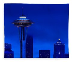 Space Needle Heights Fleece Blanket