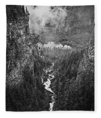 Spahats Creek Canyon In Wells Gray Provincial Park Fleece Blanket