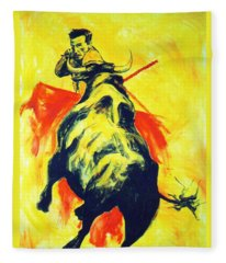 Spanish Bullfight Fleece Blanket