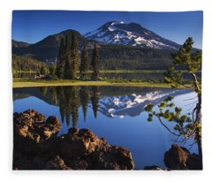 Sparks Lake Sunrise Fleece Blanket