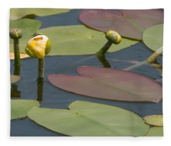 Spatterdock Heart Fleece Blanket