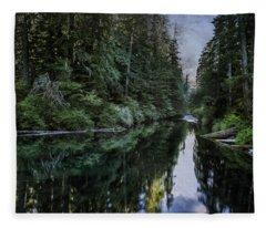 Spawning A River Fleece Blanket