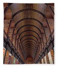 Speaking Shelves Of Trinity College Fleece Blanket
