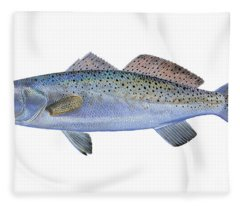 Speckled Trout Fleece Blanket
