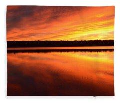Spectacular Orange Mirror Fleece Blanket