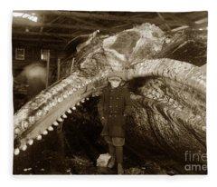 Sperm Whale Taken At Moss Landing California  On January 22 1919 Fleece Blanket