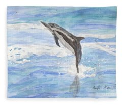 Spinner Dolphin Fleece Blanket