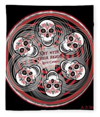 Spinning Celtic Skulls Fleece Blanket