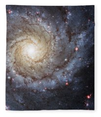 Spiral Galaxy M74 Fleece Blanket