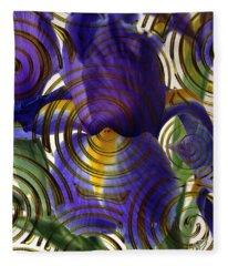 Spiral Iris Fleece Blanket