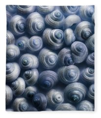 Spirals Blue Fleece Blanket