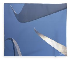 Spires Of The Air Force Memorial In Arlington Virginia Fleece Blanket
