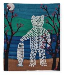 Spirit Bear Bella Coola Fleece Blanket