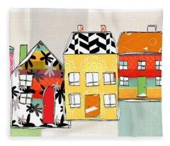 Spirit House Row Fleece Blanket