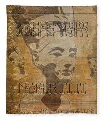Spirit Of Nefertiti Egyptian Queen   Fleece Blanket