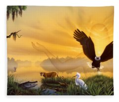 Spirit Of The Everglades Fleece Blanket