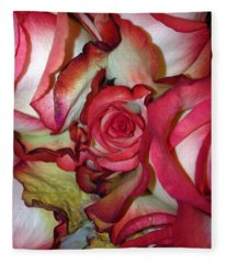 Spirited Rose  Fleece Blanket