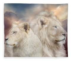 Spirits Of Light Fleece Blanket