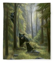 Spirits Of The Forest Fleece Blanket