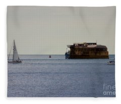 Spitbank Fort Martello Tower Fleece Blanket