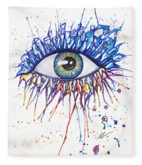 Splash Eye 1 Fleece Blanket