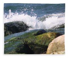Splashing Rocks Fleece Blanket