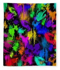 Splattered One Fleece Blanket