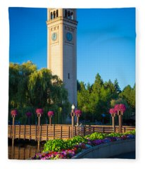 Spokane Clocktower Fleece Blanket