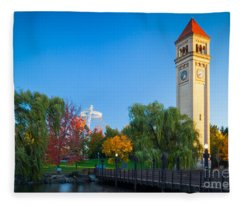 Spokane Fall Colors Fleece Blanket