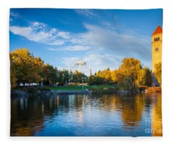 Spokane Reflections Fleece Blanket
