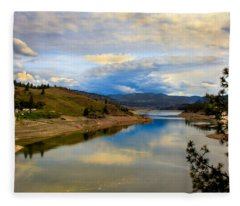 Spokane River Fleece Blanket