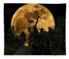 Spooky Road Fleece Blanket