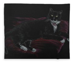 Spooky The Cat Fleece Blanket