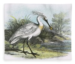 Spoonbill Fleece Blanket