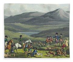 Sporting Meeting In The Highlands Fleece Blanket
