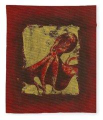 Spotted Red Octopus Fleece Blanket