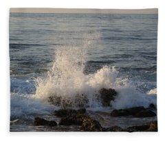 Spray Over Stones Fleece Blanket