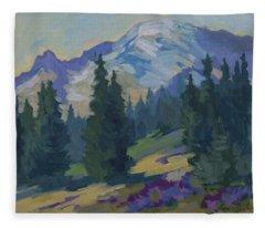 Spring At Mount Rainier Fleece Blanket