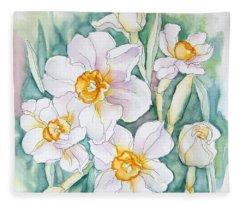 Spring Daffodils Fleece Blanket