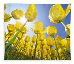 Spring Flowers 5 Fleece Blanket