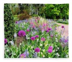 Spring Gardens Fleece Blanket
