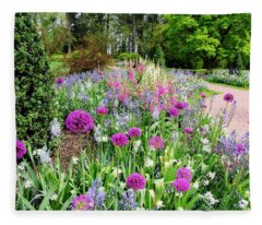 Spring Gardens Fleece Blanket