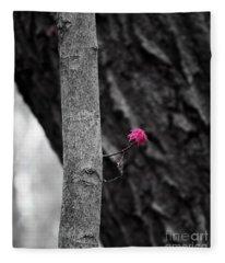 Spring Maple Growth Fleece Blanket