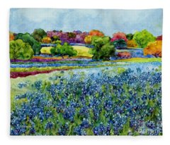 Spring Impressions Fleece Blanket