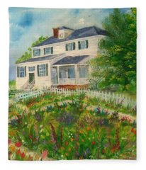 Spring In Colonial Williamsburg- Cole House Fleece Blanket