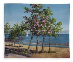 Spring In Kings Beach Lake Tahoe Fleece Blanket
