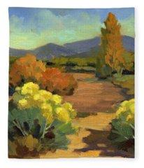 Spring In Santa Fe Fleece Blanket