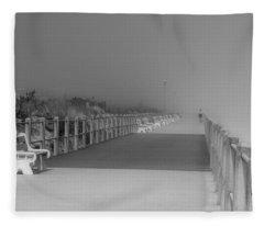 Spring Lake Boardwalk - Jersey Shore Fleece Blanket