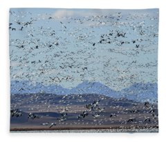 Spring Migration #1 Fleece Blanket