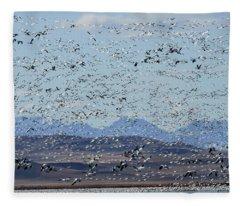Spring Migration #1 Fleece Blanket